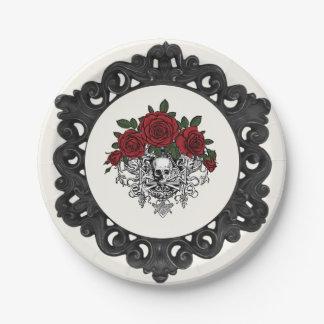 Vintage Glam Skeleton Paper Plates
