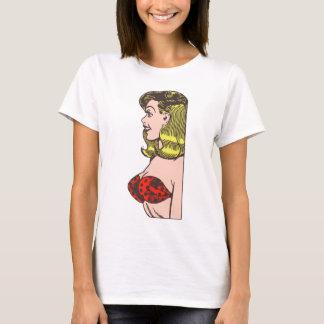 Vintage Glamour Girl, Blond Blombshell in Bikini T-Shirt