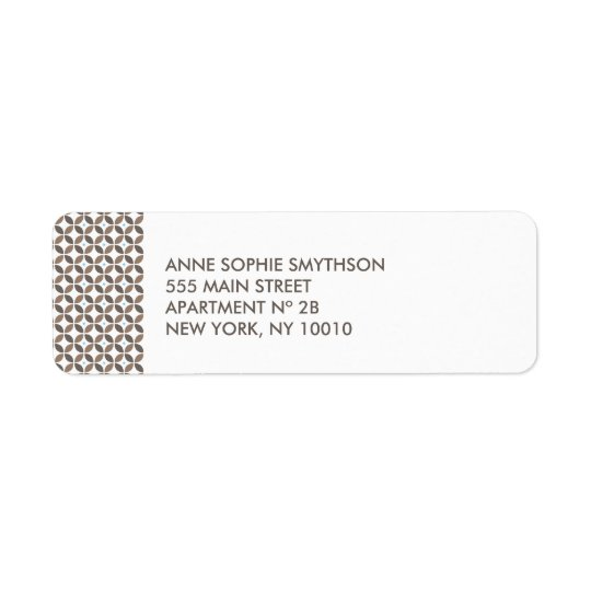 Vintage Glamour Return Address Label