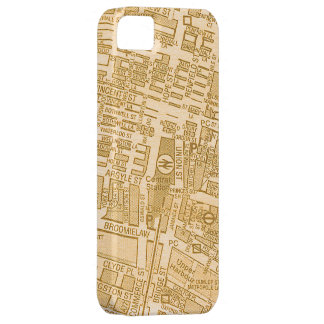 Vintage Glasgow City Street Map Case