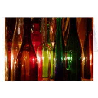Vintage Glass Bottles Card