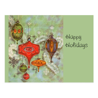 Vintage Glass Ornaments Postcard