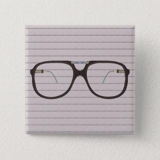 vintage glasses 15 cm square badge