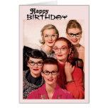 Vintage Glasses Birthday Card