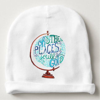 Vintage Globe - Oh The Places You'll Go Baby Beanie
