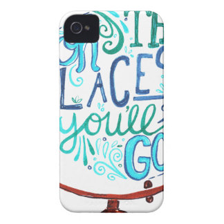 Vintage Globe - Oh The Places You'll Go iPhone 4 Case-Mate Case