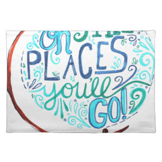 Vintage Globe - Oh The Places You'll Go Placemat