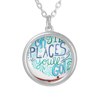 Vintage Globe - Oh The Places You'll Go Silver Plated Necklace