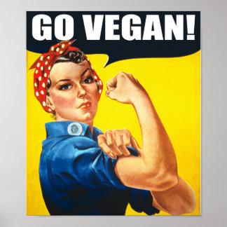 Vintage Go Vegan Poster