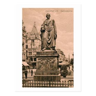 Vintage Goethe Monument Frankfurt Germany Postcard
