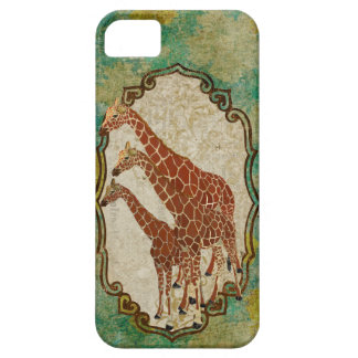 Vintage Gold & Amber Giraffes iPhone Case iPhone 5 Case