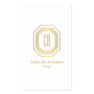 Vintage Gold Art Deco Initials Monogram Pack Of Standard Business Cards