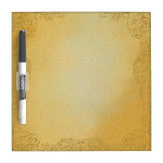 Vintage Gold Damask Dry Erase Board