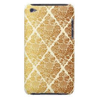 Vintage,gold,damask,floral,pattern,elegant,chic,be Barely There iPod Covers