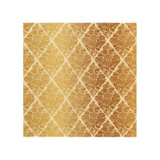 Vintage,gold,damask,floral,pattern,elegant,chic,be Wood Wall Art