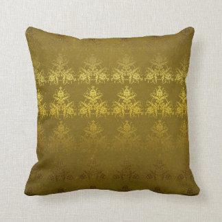 Vintage gold damask pillow