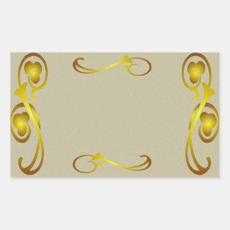 Vintage Gold Decorative Border label Sticker