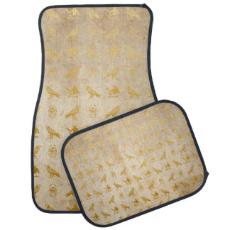 Vintage Gold Egyptian Paper Print Car Mat