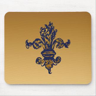 Vintage Gold Fleur de lis Mouse Pads