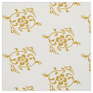 Vintage Gold Floral Fabric