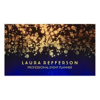 vintage gold foil confetti blue pack of standard business cards