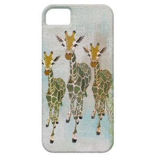 Vintage Gold & Jade Giraffes iPhone Case