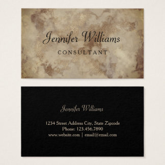 Vintage Gold Marble Business Card