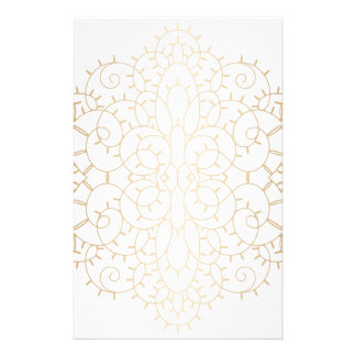Vintage Gold Scroll Design Personalized Stationery