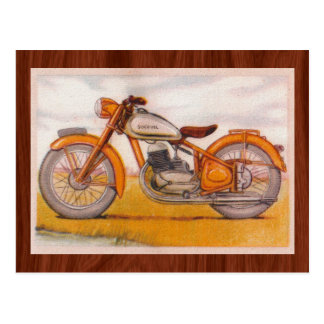 Vintage Gold Socovel Motorcycle Print Postcard