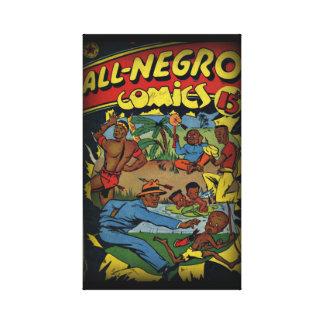 Vintage Golden Age Comic Book Canvas Print