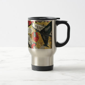 Vintage Golden Age Comic Book Travel Mug
