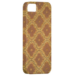 Vintage Golden Brown Damask Case-Mate iPhone 5 Barely There iPhone 5 Case