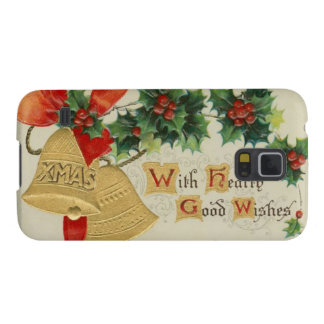 Vintage Golden Christmas Bells and Holly Samsung Galaxy Nexus Case