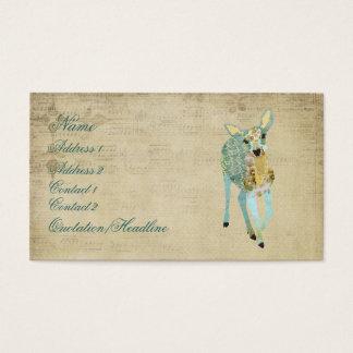 Vintage Golden Dearest Deer Business Card/Tags Business Card