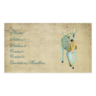 Vintage Golden Dearest Deer Business Card/Tags Pack Of Standard Business Cards