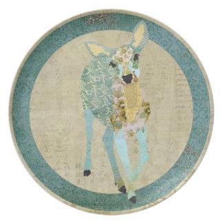 Vintage Golden Dearest Deer Plate