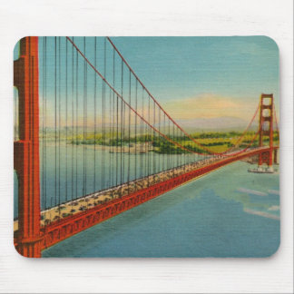 Vintage Golden Gate Bridge Mousepad