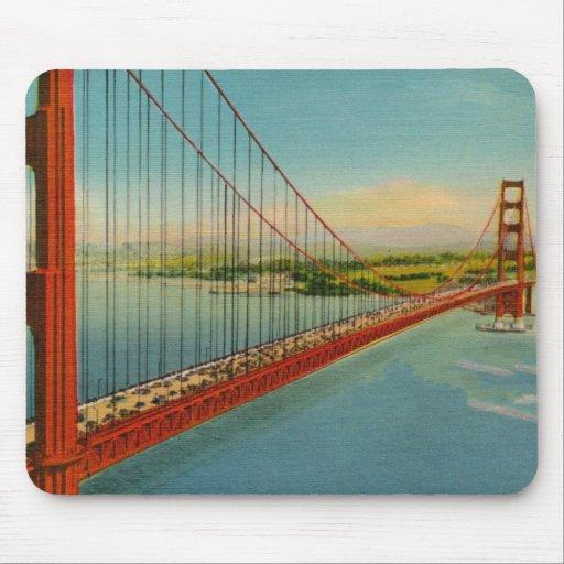 Vintage Golden Gate Bridge Mousepad