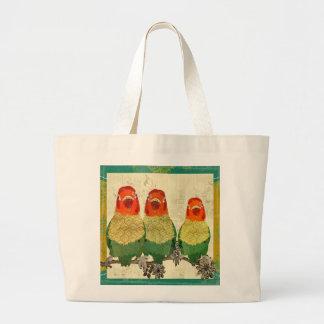 Vintage Golden Love Birds Bag