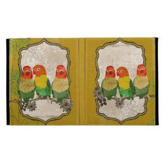 Vintage Golden Love Birds Caseable Case iPad Folio Cases