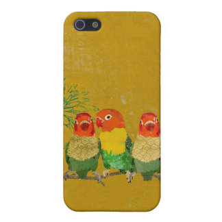 Vintage Golden Love Birds iPhone iPhone 5/5S Cases