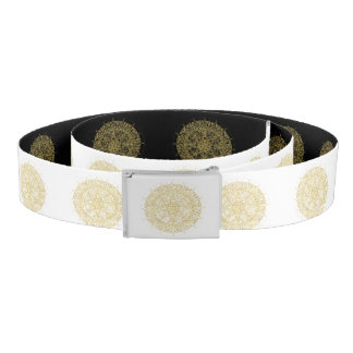 Vintage golden Mandala custom template Belt