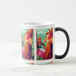 """Vintage Golden West Coffee"" Magic Mug"