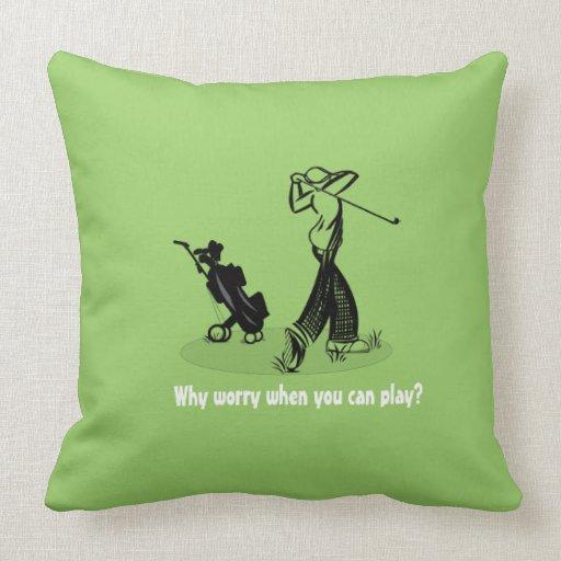 Vintage Golf Pro Grade A 20X20 Cotton Throw Pillow