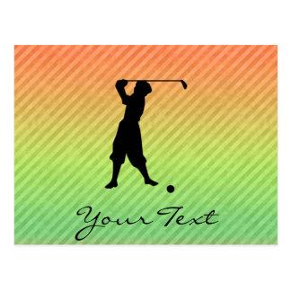 Vintage Golfer Postcard