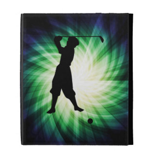 Vintage Golfer Silhouette iPad Folio Covers