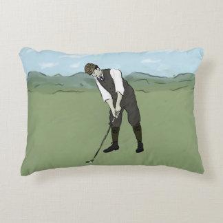 Vintage Golfer V1 Art Decorative Cushion