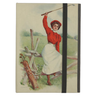 Vintage Golfing Lady Art (two) iPad Air Cases