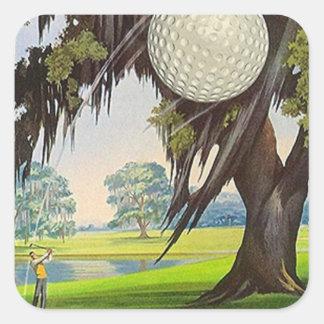 Vintage Golfing Sport Golf Stickers Travel Trips