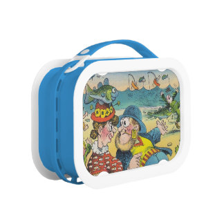 Vintage Gone Fishing Fun Vacation Lunch Box